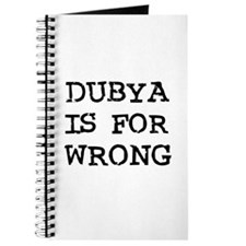 Dubya is for Wrong Journal