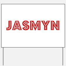 Retro Jasmyn (Red) Yard Sign