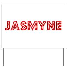 Retro Jasmyne (Red) Yard Sign
