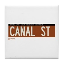 Canal Street in NY Tile Coaster