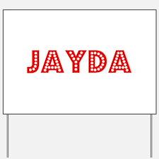 Retro Jayda (Red) Yard Sign
