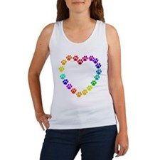 Cat Print Heart Women's Tank Top