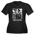 White House Police Women's Plus Size V-Neck Dark T