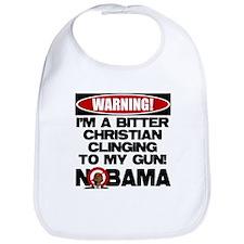 Warning: Christian with Gun Bib