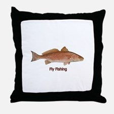 Fly Fishing - Red Drum Throw Pillow