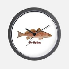 Fly Fishing - Red Drum Wall Clock