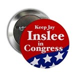Keep Jay Inslee campaign button