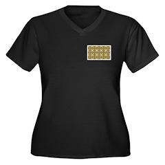 Brown Owls Women's Plus Size V-Neck Dark T-Shirt