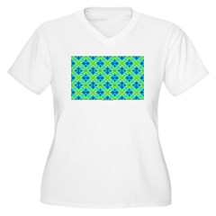 Squares And Angles Plus Size V-Neck T-Shirt