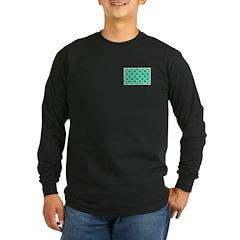 Squares And Angles Long Sleeve Dark T-Shirt