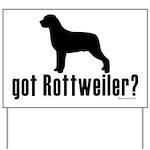 got rottweiler? Yard Sign