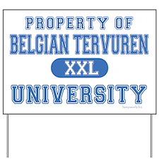 Belgian Tervuren U. Yard Sign