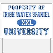 Irish Water Spaniel U. Yard Sign
