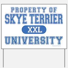 Skye Terrier U. Yard Sign