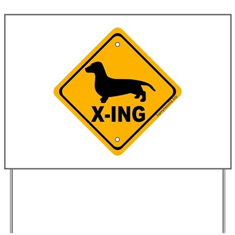 Dachshund X-ing Yard Sign