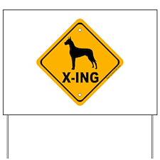 Great Dane X-ing Yard Sign