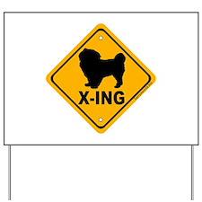 Tibetan Spaniel X-ing Yard Sign