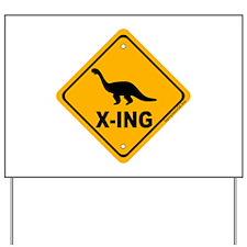 Dino4 X-ing Yard Sign