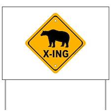 Bear X-ing Yard Sign