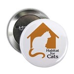 "Habitat For Cats 2.25"" Button"