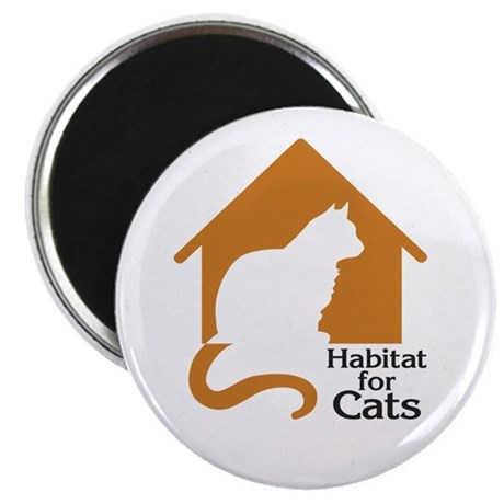 "Habitat For Cats 2.25"" Magnet (10 pack)"