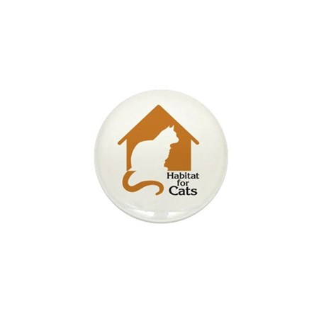 Habitat For Cats Mini Button