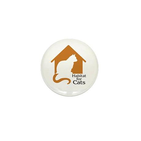 Habitat For Cats Mini Button (10 pack)