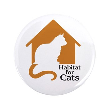 "Habitat For Cats 3.5"" Button"