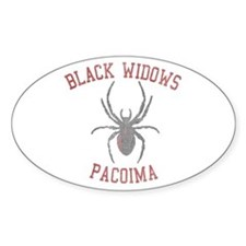 Black Widows Pacoima Oval Decal