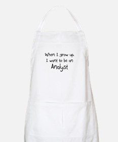 When I grow up I want to be an Analyst BBQ Apron