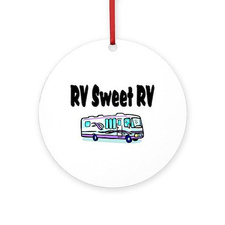 RV Sweet RV Ornament (Round)