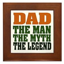 Dad - The Legend Framed Tile