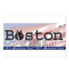Boston Terrier All American Postcards (Package of