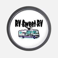 RV SWEET RV Wall Clock