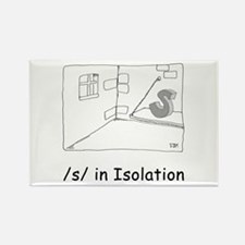 S in isolation Rectangle Magnet