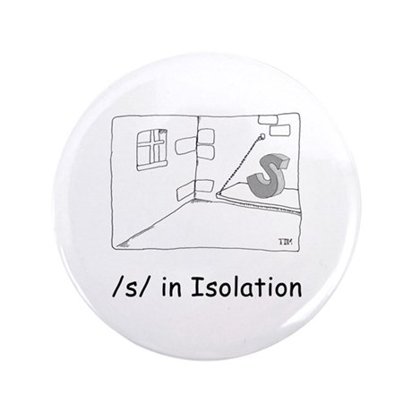 """S in isolation 3.5"""" Button (100 pack)"""