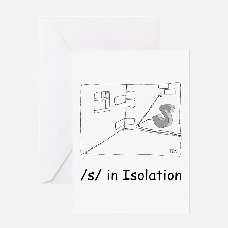 S in isolation Greeting Card
