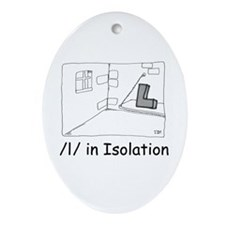 L in Isolation Oval Ornament
