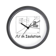 L in Isolation Wall Clock