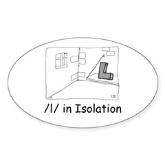 L in Isolation Oval Decal