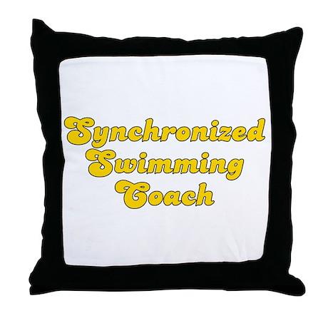 Retro Synchronize.. (Gold) Throw Pillow