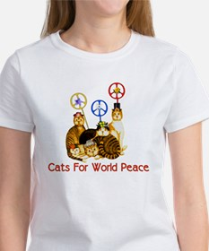 World Peace Cats Women's T-Shirt