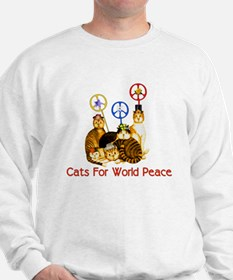 World Peace Cats Sweatshirt