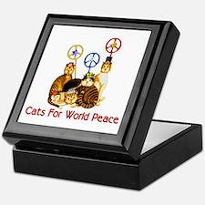 World Peace Cats Keepsake Box