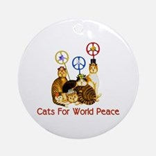 World Peace Cats Ornament (Round)