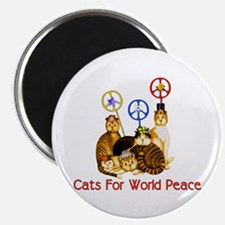 World Peace Cats Magnet