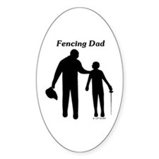 Fencing Dad Oval Decal
