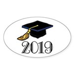 Classic 2019 Future Grad Oval Sticker (10 pk)