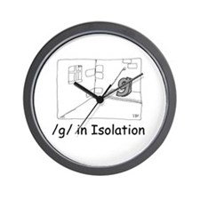 G in isolation Wall Clock