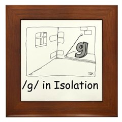 G in isolation Framed Tile